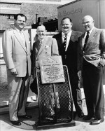Laurel and Hardy at plaque (1954)