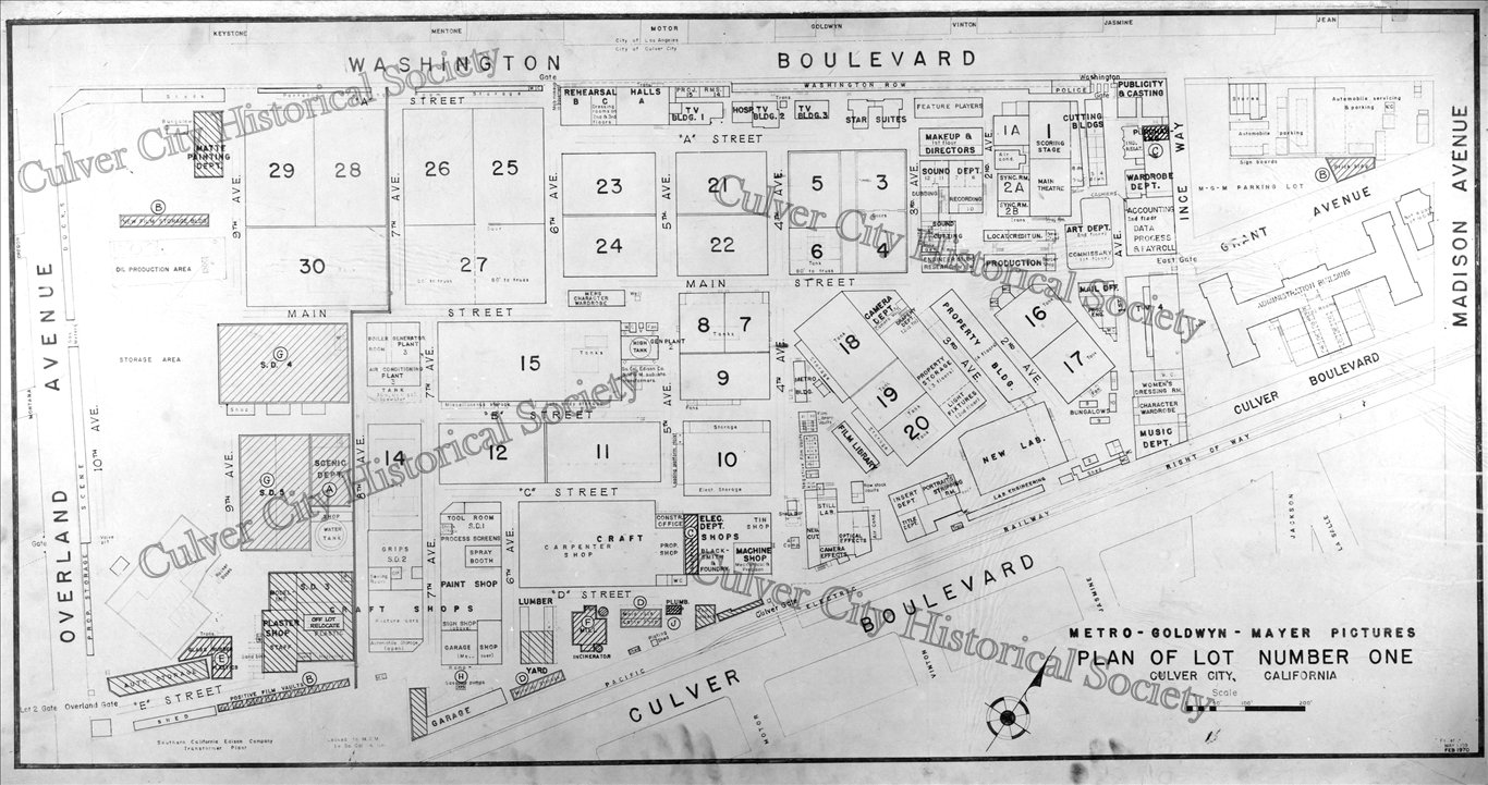 MetroGoldwynMayer Lot 1 Map Culver City Historical Society Shop