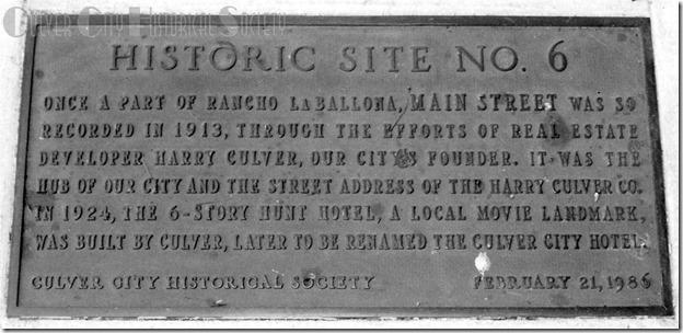 Historic Site #6 marker