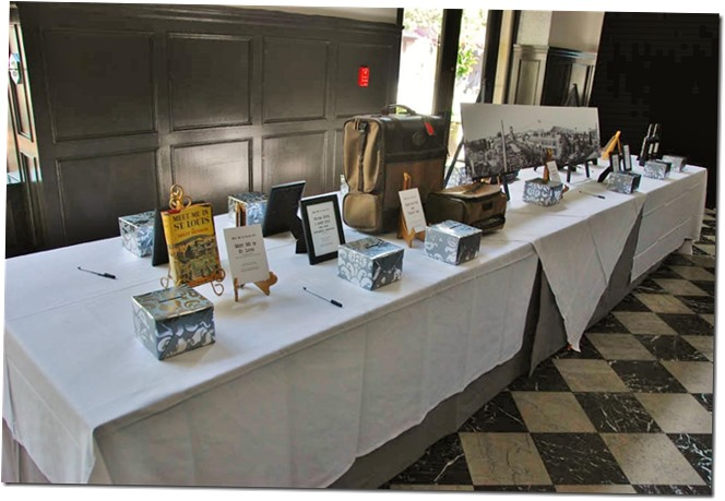 The table of wonderful raffle treasures - Culver City Historical Society