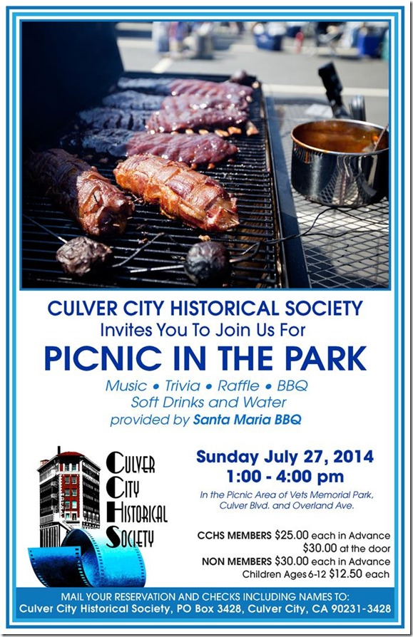 2014 Picnic in the Park - Culver City Historical Society