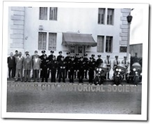 The Culver City Police Department when it was located in the 1928 Culver City Hall at Culver Boulevard and Duquesne Avenue. (Photo circa 1950) - Culver City Historical Society