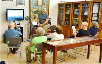 "Alex King, a noted researcher/genealogist, led one of our ""Conversation"" series in the Archives and Resource Center - Culver City Historical Society"