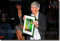 Martha Sigall shows off her cel - Culver City Historical Society