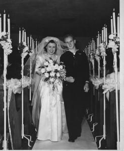 Earl and Virgie Eskridge 1946 (bottom of page)