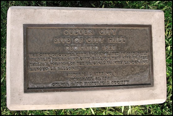 City Hall marker - Culver City Historical Society