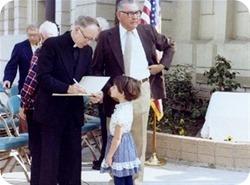Dedication of City Hall marker - Culver City Historical Society