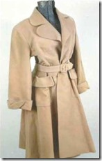 "Lana Turner trench coat from ""A Life of Her Own"""