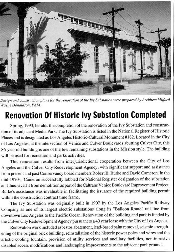 Ivy Substation article