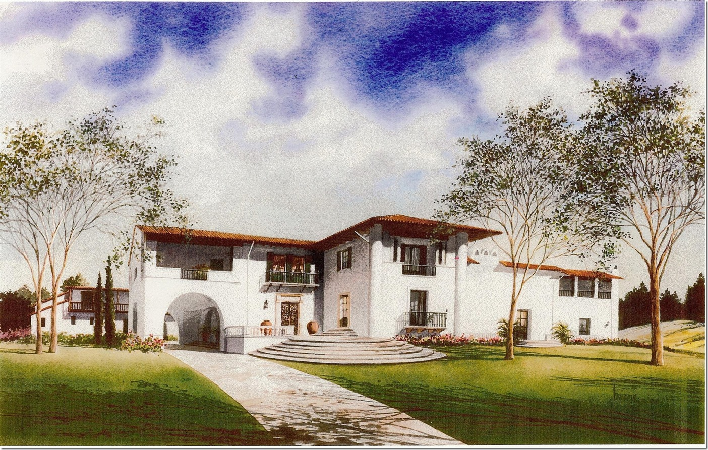 Wallace Neff designed home for Harry Culver and family.