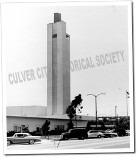Veterans Memorial Building in the 1950s when the Tower Restaurant was in operation - CulverCityHistoricalSociety.org
