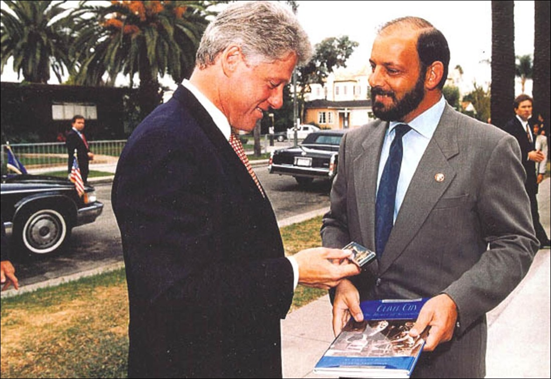 "1993: President Bill Clinton visited CC's ""First Park"" with Mayor Mike Balkman"